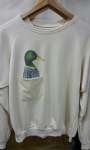 Ladies sweater 'Green Duck' with pocket - free size
